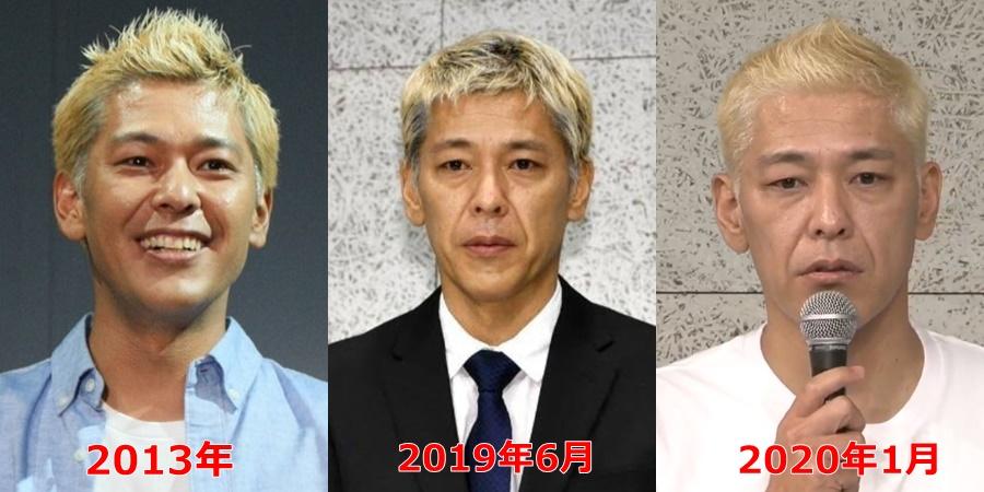 【比較画像】田村亮の変遷