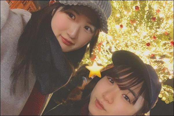 早田ひな(左)・伊藤美誠(右)