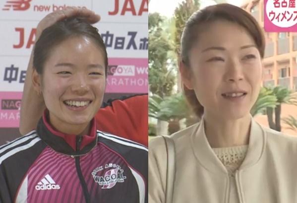 【比較画像】一山麻緒選手・一山優子さん
